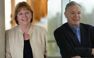 Dame Wendy Hall and Sir David Payne