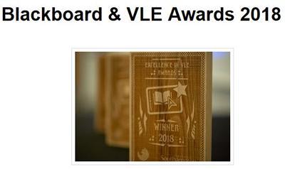 2018 Blackboard and VLE Awards