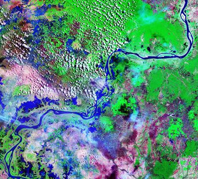 Satellite image of Mekong River