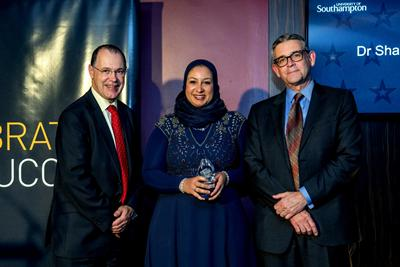 Award winner with Vice-Chancellor