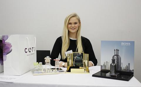Coty placement student AnnieNewland