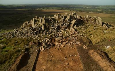 Quarry site at Carn Goedog, Wales