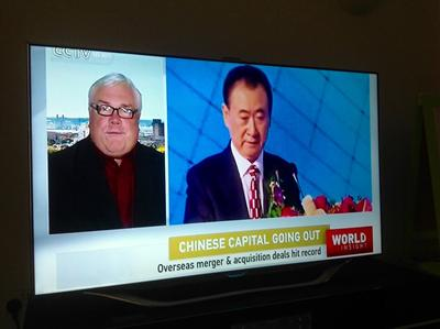 Mike Bastin on Chinese TV