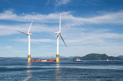 First floating wind farm