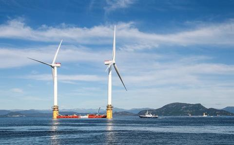 First floating wind farm