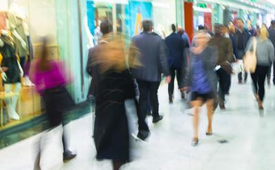 Busy retail environment