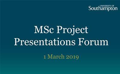 MSc Presentations 2019