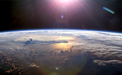 The world with a sun
