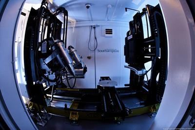 Fish-eye view of the x-ray scanner