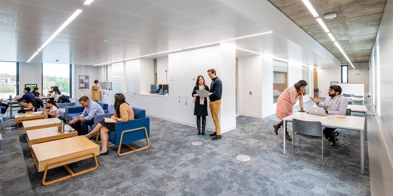 Student space at the Southampton Business School