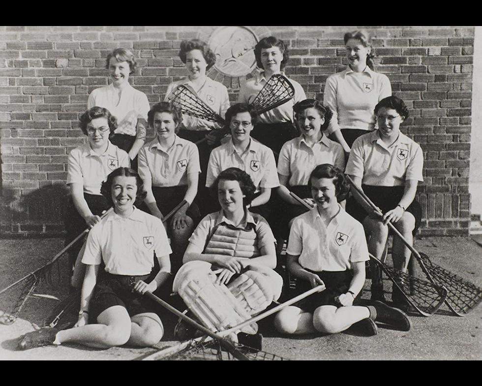 Sports: Women's lacrosse team, 1953-4