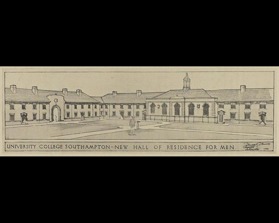 Student accommodation: Proposed men's hall of residence, 1930s