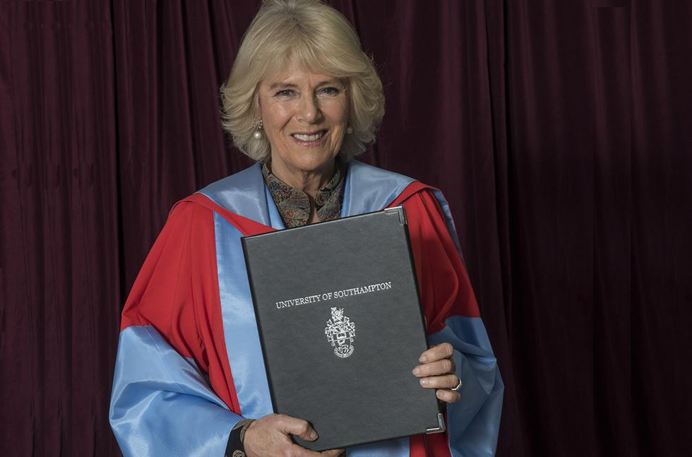 The Duchess of Cornwall with her honorary degree