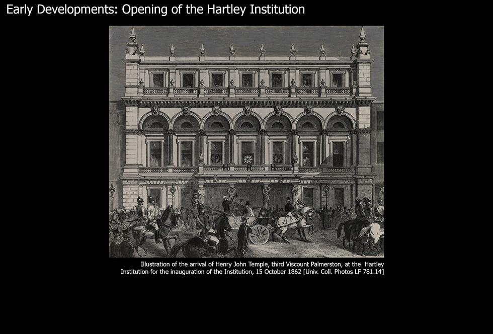 Image #1: Opening of the Hartley Institution