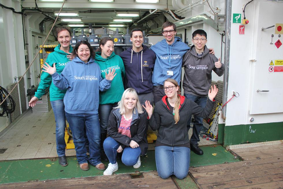 Southampton researchers onboard the James Cook