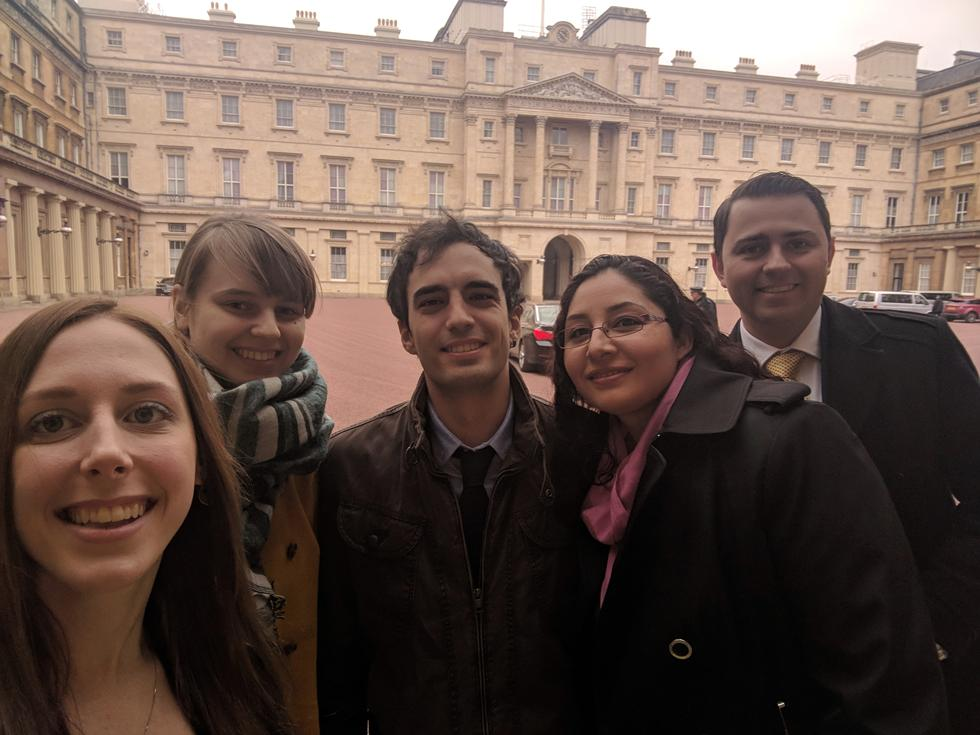 Research students at Buckingham Palace.