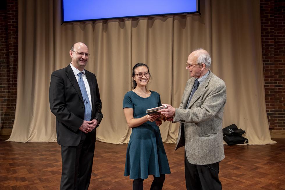 Joyce Lee with Rai Weiss and Kostas Skenderis