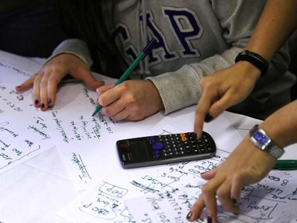 Hand calculations of energy requirements. MSc lectures often include working in groups and developing concepts through activities.