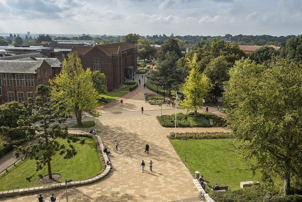 Aerial shot of Highfield Campus.