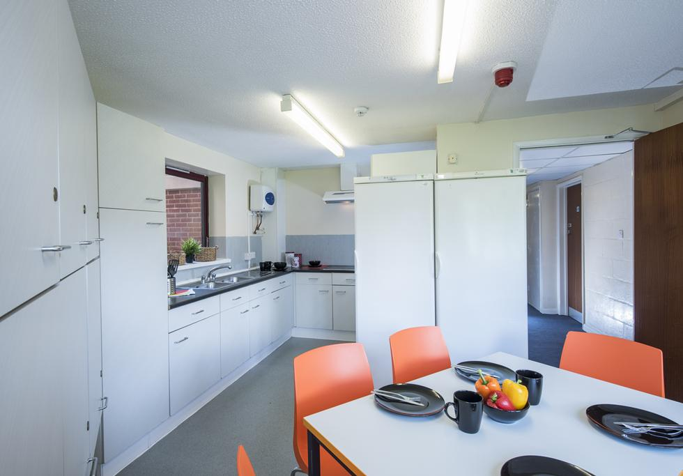 An example of a shared kitchen