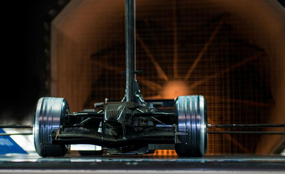 Racing car in our wind tunnel.