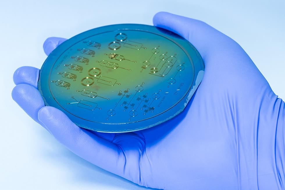 Microfluidic wafer, Dr Jonathan West