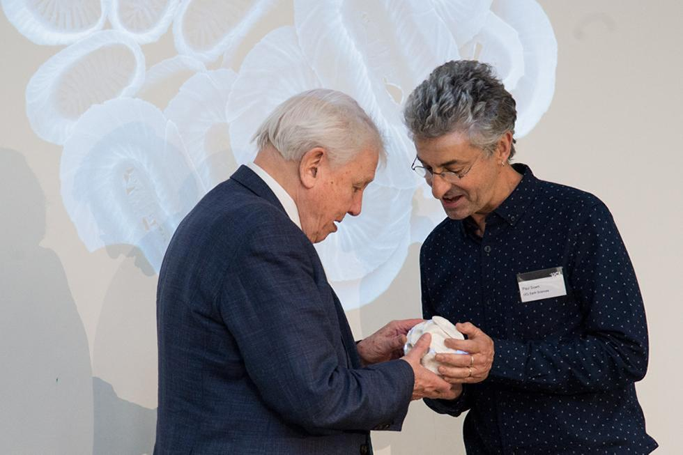 Professor Paul Brown with Sir David Attenborough