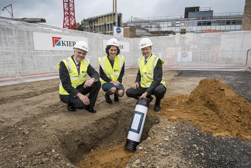 Sir Christopher Snowden, Fiona Dalton and Prof Tim Elliott