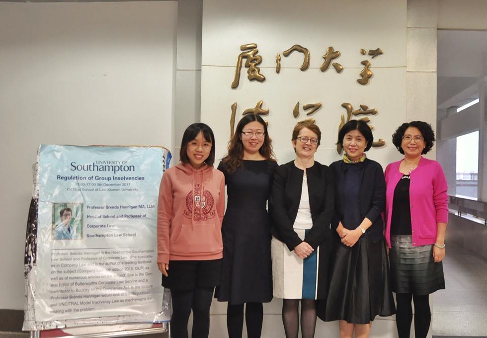 Xiamen Law School Dean, Deputy Dean and the International officer