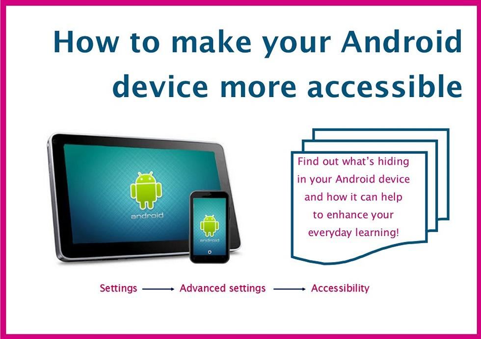 How to make your Android device more accessible