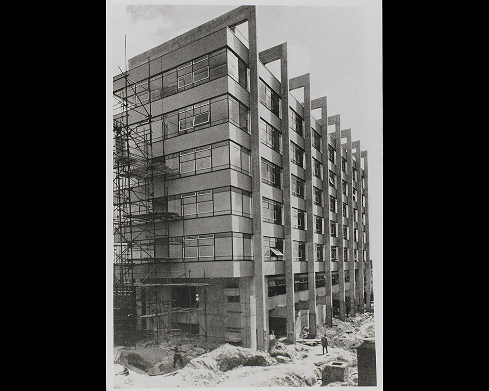 Development: Construction of the Chemistry building, 1960s