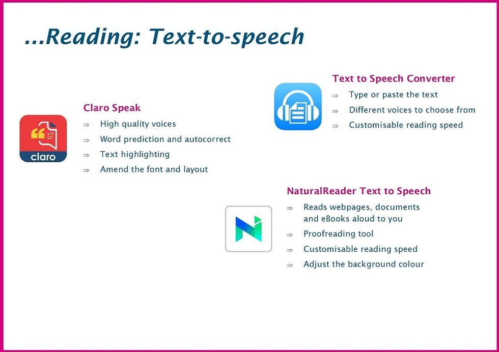 Reading: Text-to-speech