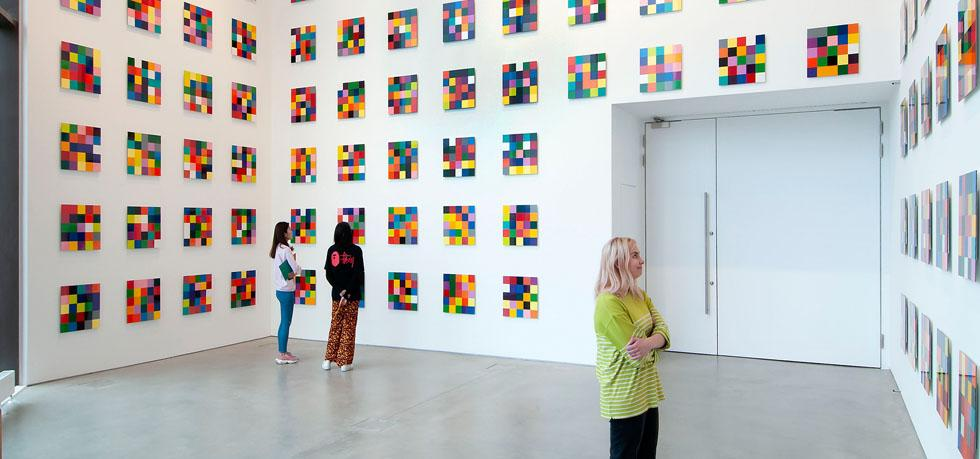 People looking at Gerhard Richter 4900 Colours (2007)