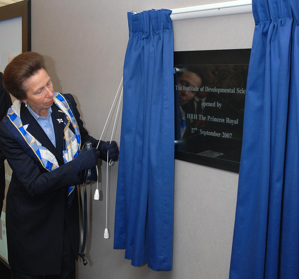 Princess Anne opening the IDS in 2007
