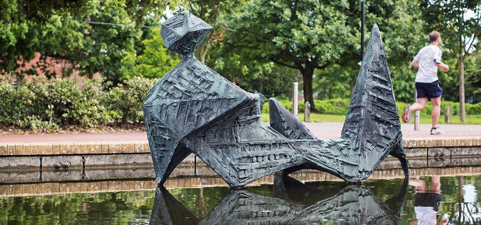 Sculpture on campus