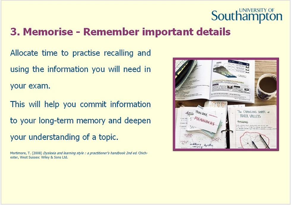 Revision and memory guide - Slide 10