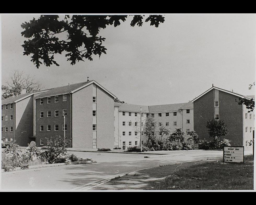 Student accommodation: Bencraft Court hall of residence, 1980s