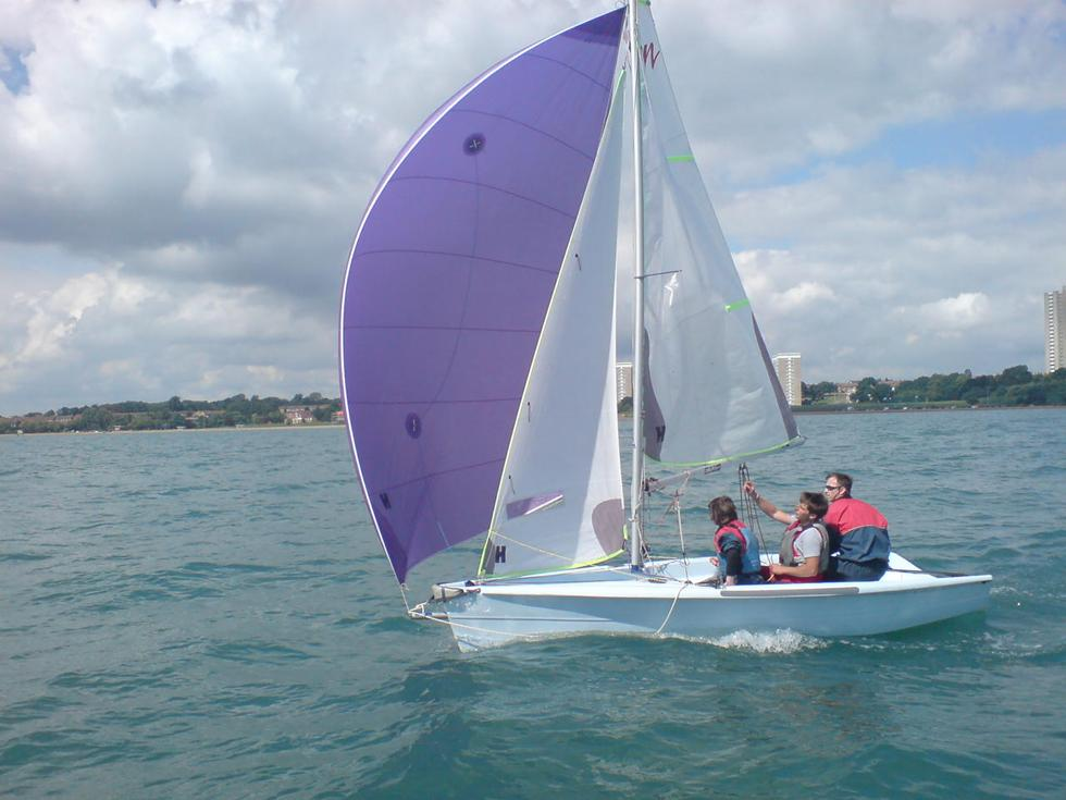Spinnaker Sailing in an RS Vision