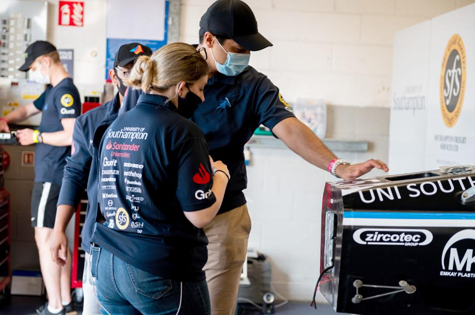 Formula student team at Silverstone
