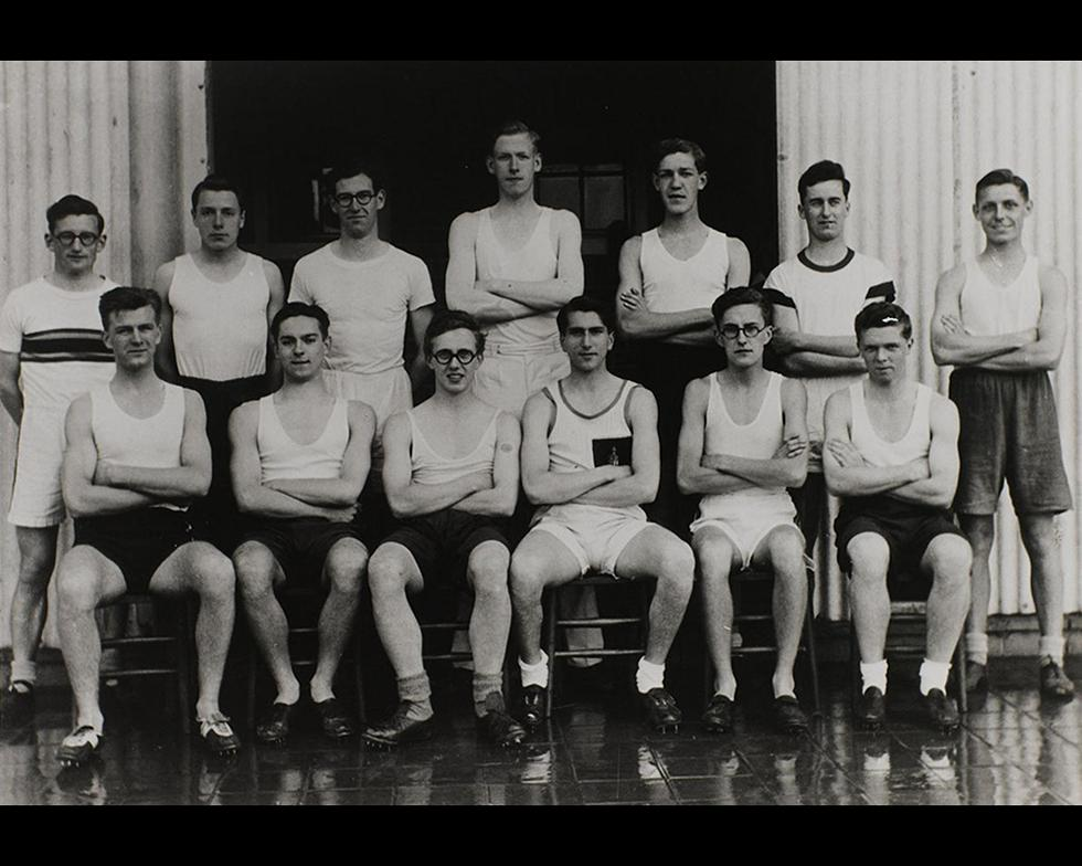 Sports: Men's athletics team, 1946