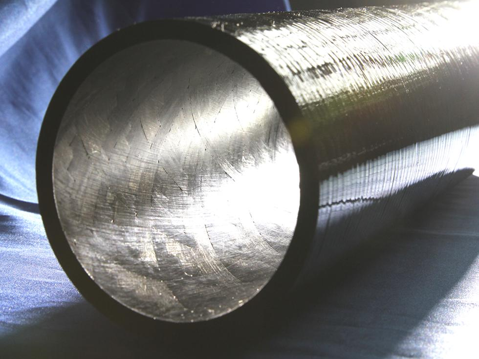 Composite pipes used in the oil and gas industry.
