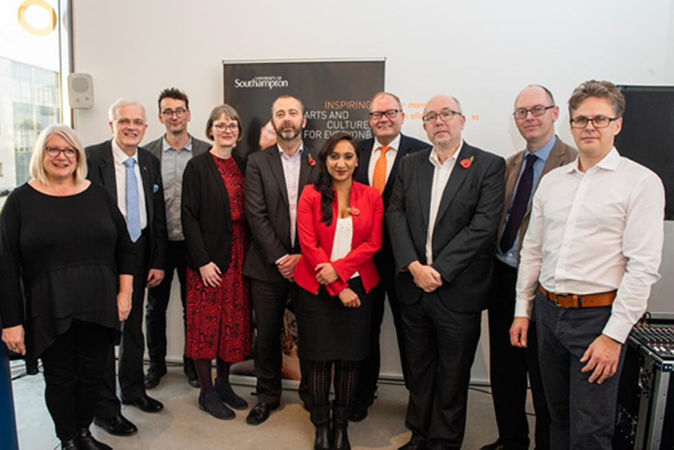 Arts and culture leaders from the City of Southampton, University of Southampton and representatives from Arts Council England come together to celebrate a shared commitment to creativity