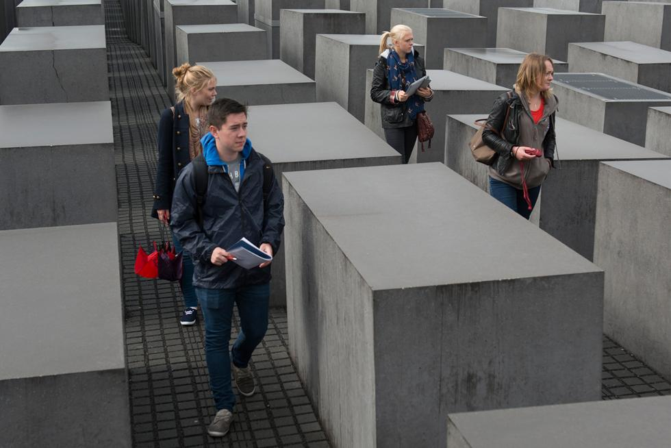 Visiting the Field of Stelae in Berlin