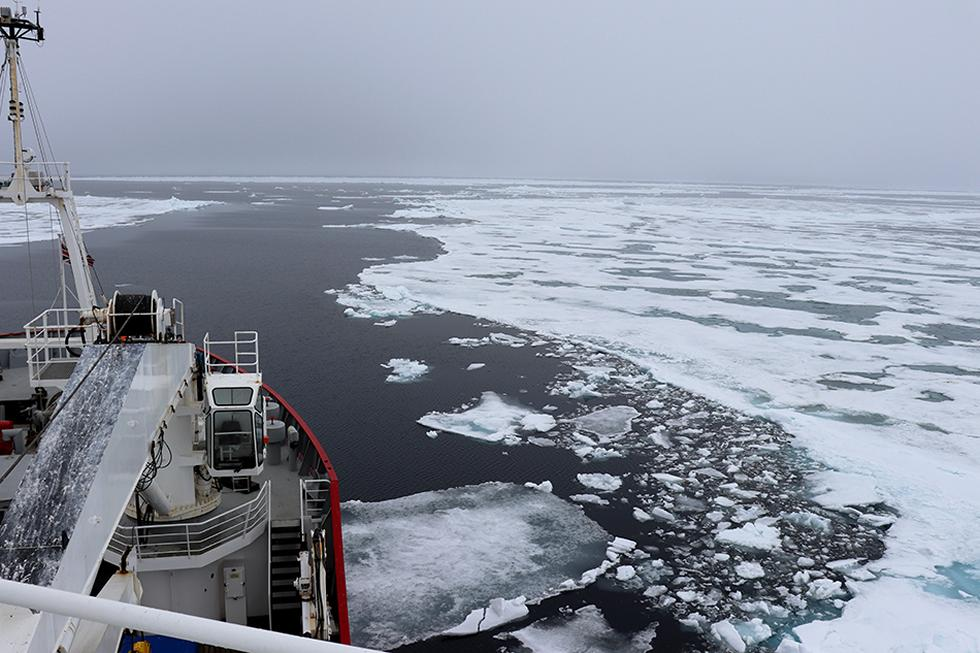 Transiting through ice