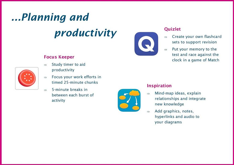 Planning and productivity