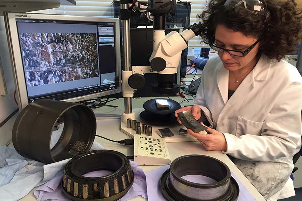 Microscopy services include macroscopy, light microscopy, and scanning electron microscopy (SEM).
