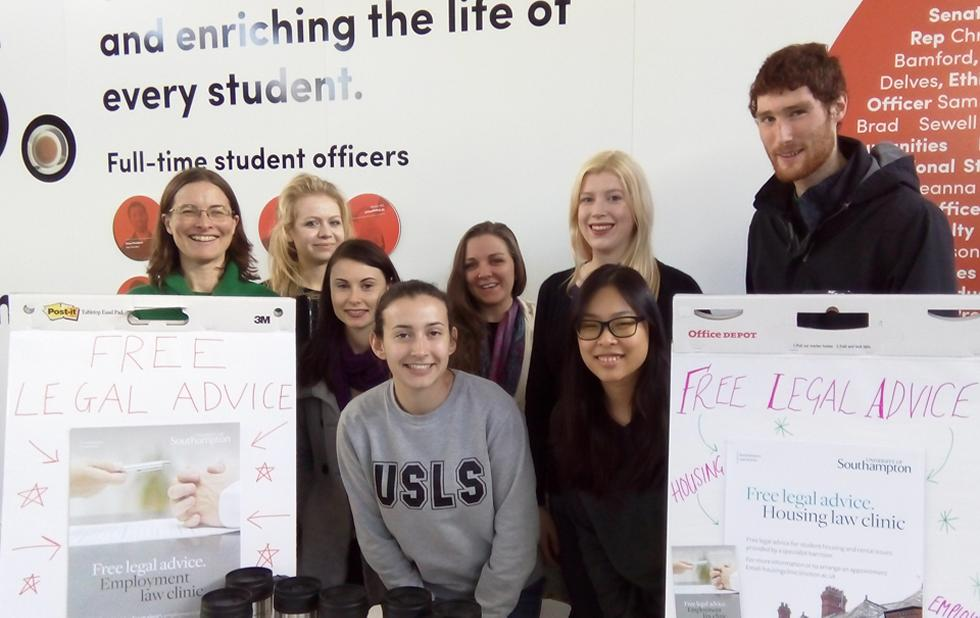 Staff and students promote the Law Clinics at the University