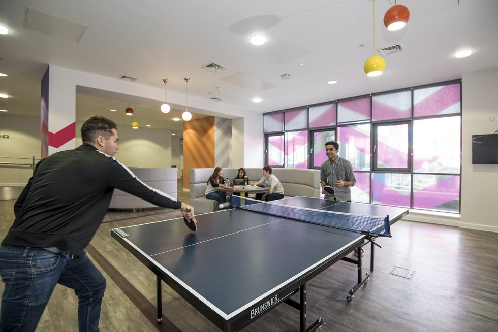The Common room with table tennis