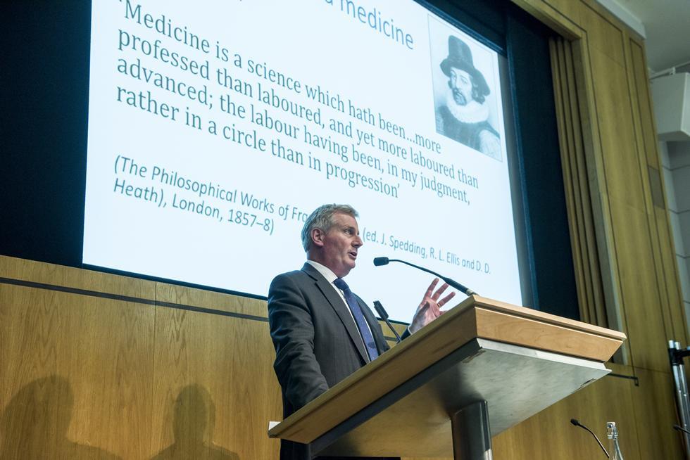 Professor Peter Johnson answering question