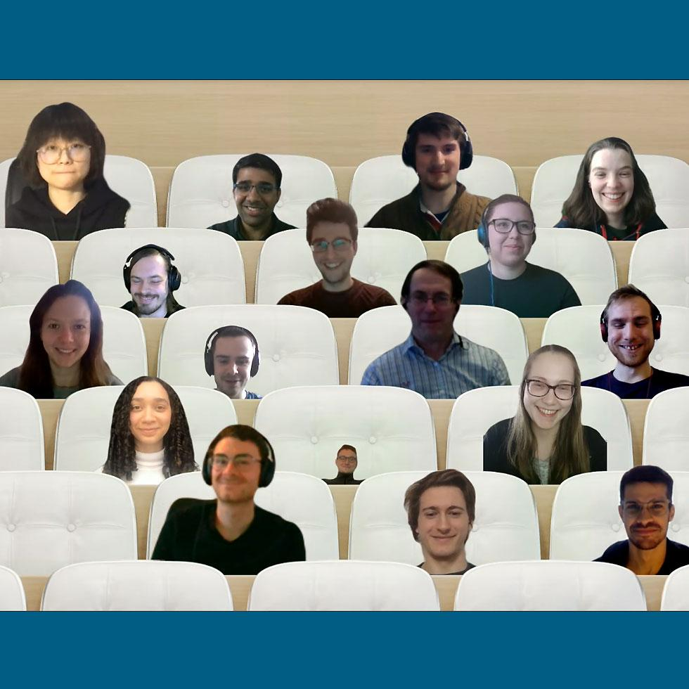 Students held an online event during COVID-19
